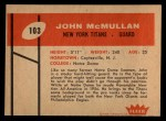 1960 Fleer #103  John McMullan  Back Thumbnail