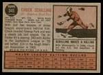 1962 Topps #345  Chuck Schilling  Back Thumbnail