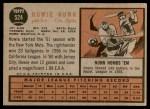 1962 Topps #524  Howie Nunn  Back Thumbnail
