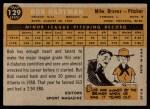 1960 Topps #129   -  Bob Hartman Rookie Star Back Thumbnail