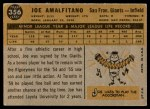 1960 Topps #356  Joe Amalfitano  Back Thumbnail