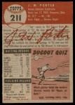 1953 Topps #211  J.W. Porter  Back Thumbnail