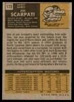 1971 Topps #173  Joe Scarpati  Back Thumbnail