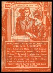 1957 Topps Isolation Booth #44   Most Decorated Hero in US History Back Thumbnail