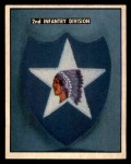 1950 Topps Freedoms War #187   2nd Infantry Div.  Front Thumbnail