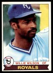 1979 Topps #409  Willie Wilson  Front Thumbnail