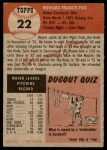 1953 Topps #22  Howard Fox  Back Thumbnail
