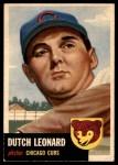 1953 Topps #155  Dutch Leonard  Front Thumbnail