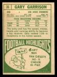 1968 Topps #36  Gary Garrison  Back Thumbnail