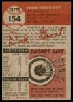 1953 Topps #154  Dick Groat  Back Thumbnail