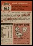 1953 Topps #165  Billy Hoeft  Back Thumbnail