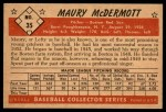 1953 Bowman #35  Mickey McDermott  Back Thumbnail