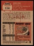 2002 Topps Heritage #114  Derek Jeter  Back Thumbnail