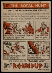 1956 Topps Round Up #27   -  Buffalo Bill The Royal Hunt Back Thumbnail