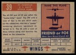 1952 Topps Wings #39   AF Guardian Back Thumbnail