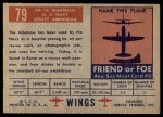 1952 Topps Wings #79   SA-16 Albatross Back Thumbnail