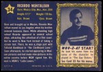 1953 Topps Who-Z-At Star #34  Ricardo Montalban  Back Thumbnail
