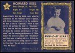 1953 Topps Who-Z-At Star #35  Howard Keel  Back Thumbnail