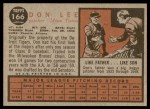 1962 Topps #166 NRM Don Lee  Back Thumbnail