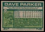 1977 Topps #270  Dave Parker  Back Thumbnail