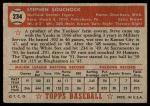 1952 Topps #234  Steve Souchock  Back Thumbnail