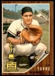 1962 Topps #218  Joe Torre  Front Thumbnail