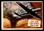1954 Topps Scoop #12   First Atom Bomb Dropped Front Thumbnail