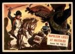 1954 Topps Scoop #115   Napoleon Loses At Waterloo Front Thumbnail