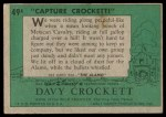 1956 Topps Davy Crockett #49 GRN  Capture Crock  Back Thumbnail