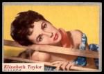1953 Topps Who-Z-At Star #52  Elizabeth Taylor  Front Thumbnail