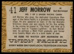 1958 Topps TV Westerns #41  Jeff Morrow   Back Thumbnail