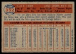 1957 Topps #352  Ellis Kinder  Back Thumbnail