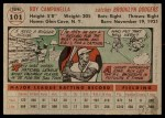 1956 Topps #101 GRY Roy Campanella  Back Thumbnail