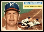 1956 Topps #175 GRY Del Crandall  Front Thumbnail