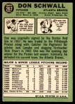1967 Topps #267  Don Schwall  Back Thumbnail
