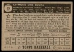1952 Topps #55 BLK Ray Boone  Back Thumbnail