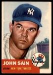 1953 Topps #119  Johnny Sain  Front Thumbnail