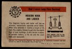 1953 Bowman Firefighters #50   Modern Hook and Ladder - Seagrave Back Thumbnail