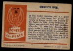1954 Bowman Power for Peace #36   Recoilless Rifles Back Thumbnail