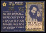 1953 Topps Who-Z-At Star #10  Vera Ralston  Back Thumbnail