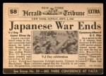 1954 Topps Scoop #58   Japanese Surrender Back Thumbnail