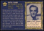 1953 Topps Who-Z-At Star #60  Rita Gam  Back Thumbnail