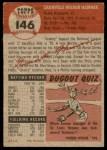 1953 Topps #146  Granny Hamner  Back Thumbnail