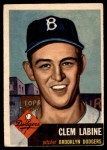 1953 Topps #14  Clem Labine  Front Thumbnail