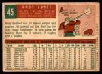 1959 Topps #45  Andy Carey  Back Thumbnail
