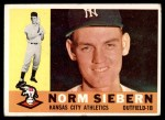 1960 Topps #11  Norm Siebern  Front Thumbnail