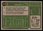 1974 Topps #573  Mike Adams  Back Thumbnail