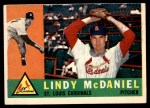 1960 Topps #195  Lindy McDaniel  Front Thumbnail
