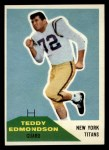 1960 Fleer #91  Teddy Edmondson  Front Thumbnail