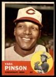 1963 Topps #265  Vada Pinson  Front Thumbnail